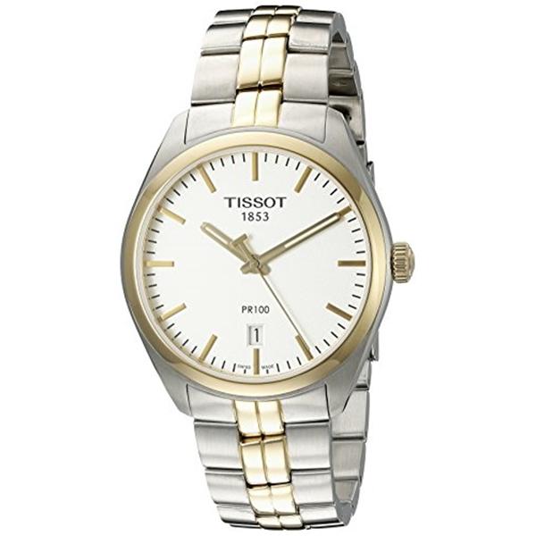 ティソ Tissot 腕時計 メンズ 時計 Tissot Men's T1014102203100 Analog Display Quartz Two Tone Watch