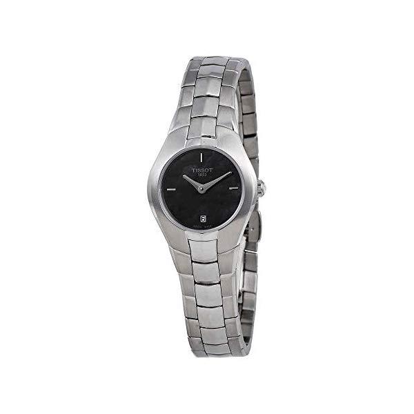 ティソ 腕時計 TISSOT T096.009.11.121.00 ウォッチ レディース 女性用 Tissot T0960091112100 T-Round Ladies Watch - Black Dial