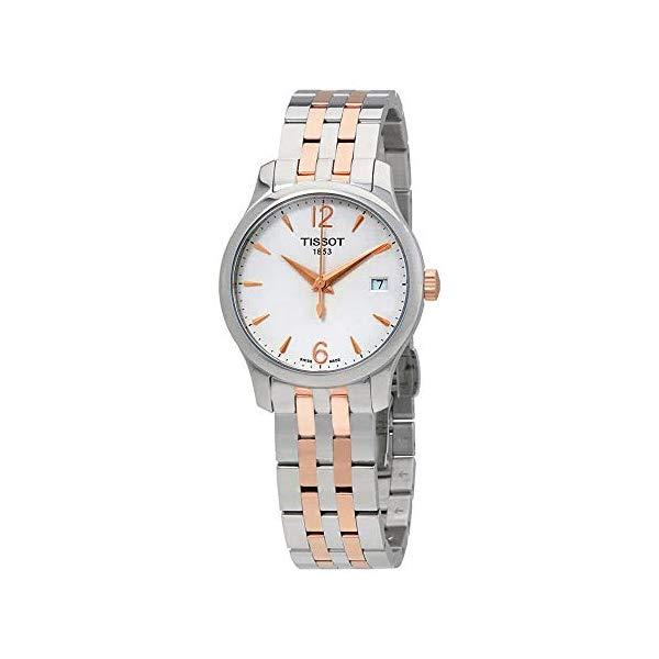 ティソ 腕時計 TISSOT T063.210.22.037.01 ウォッチ レディース 女性用 Tissot T063.210.22.037.01 Women's Watch Tradition Silver/Rose Gold 33mm Stainless Steel