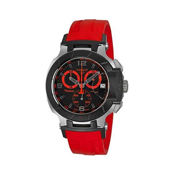ティソ 腕時計 TISSOT T048.417.27.057.02 ウォッチ メンズ 男性用 Tissot Men's Watch T048.417.27.057.02 T-race Black Chronograph Dial
