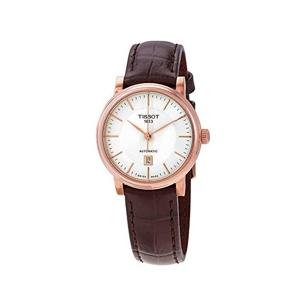 ティソ 腕時計 TISSOT T1222073603100 ウォッチ レディース 女性用 Tissot Carson Rose Gold Brown Leather Automatic Women's Watch T122.207.36.031.00