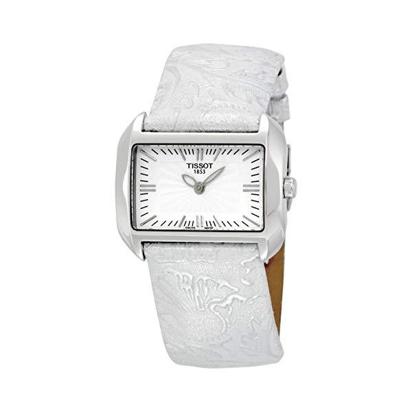 ティソ 腕時計 TISSOT T023.309.16.031.02 ウォッチ レディース 女性用 Tissot Women's T023.309.16.031.02 T-Wave White Dial Leather Strap Watch