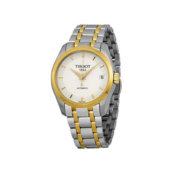 ティソ 腕時計 TISSOT T0352072201100 ウォッチ レディース 女性用 Tissot Couturier Automatic White Dial Two-tone Ladies Watch T0352072201100