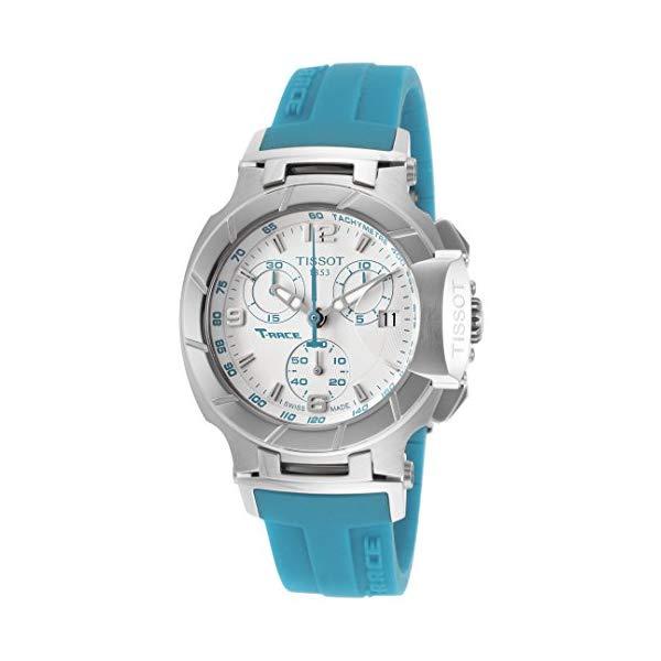 ティソ 腕時計 TISSOT ウォッチ Tレース レディース 女性用 Tissot Women's T-Race Chronograph White Dial Blue Rubber