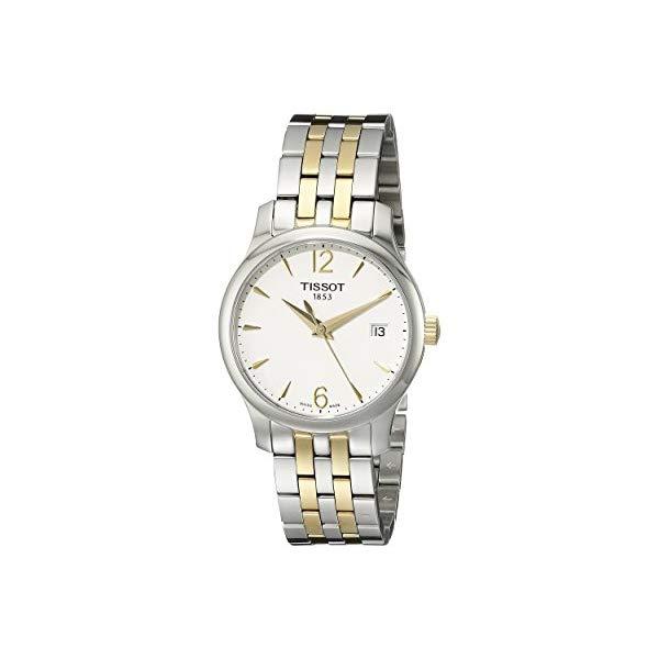 ティソ 腕時計 TISSOT T0632102203700 ウォッチ レディース 女性用 Tissot Women's T0632102203700 Tradition Analog Display Swiss Quartz Two Tone Watch