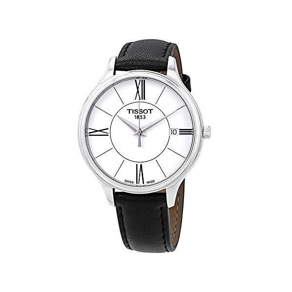 ティソ 腕時計 TISSOT T1032101601800 ウォッチ レディース 女性用 Tissot Bella Ora White Dial Black Leather Ladies Watch T1032101601800