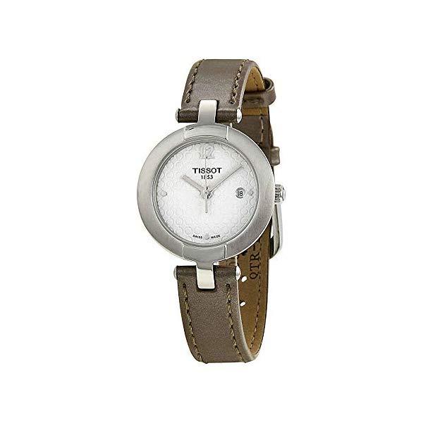 ティソ 腕時計 TISSOT T0842101601701 ウォッチ Tissot T-Trend White Dial Brown Leather Woman's Watch T0842101601701