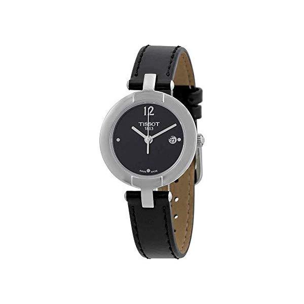 ティソ 腕時計 TISSOT T0842101605700 ウォッチ レディース 女性用 Tissot Trend Pinky Black Dial Black Leather Ladies Watch T0842101605700