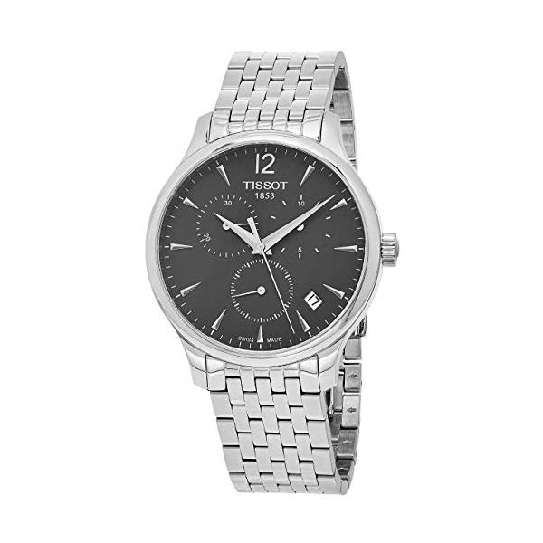 ティソ 腕時計 TISSOT T0636171106700 ウォッチ メンズ 男性用 Tissot Men's T063.617.11.067.00 Stainless Steel Bracelet Chronograph Watch with Gray Dial and Date