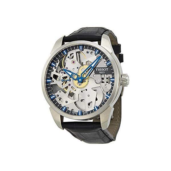 ティソ 腕時計 TISSOT T070.405.16.411.00 ウォッチ メンズ 男性用 Tissot Men's T0704051641100 T-Complication Squelette Analog Display Swiss Mechanical Hand Wind Brushed Stainless Steel watch