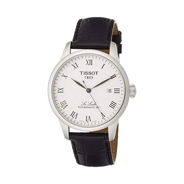 ティソ 腕時計 TISSOT T0064071603300 ウォッチ メンズ 男性用 Tissot Powermatic 80 Silver Dial Black Leather Strap Men's Watch T0064071603300