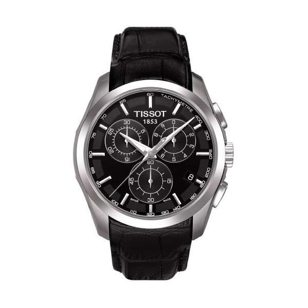 ティソ 腕時計 TISSOT T0356171605100 ウォッチ メンズ 男性用 TissotT035.617.16.051.00 Men's Couturier Black Leather Swiss Quartz Watch with Black Dial