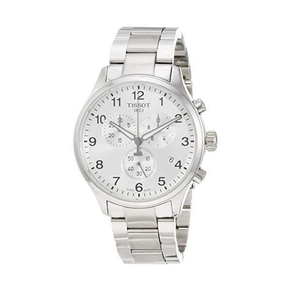 ティソ 腕時計 TISSOT T1166171103700 ウォッチ メンズ 男性用 Tissot Men's Chronograph Stainless Steel Silver Dial Chrono XL Watch T1166171103700
