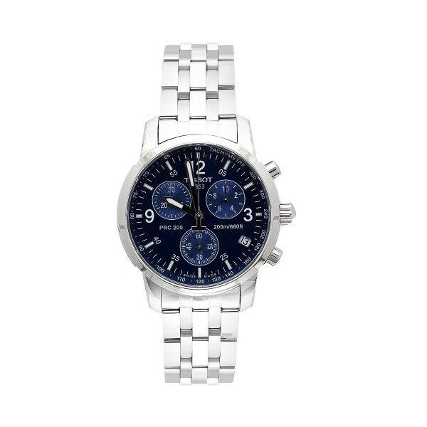 ティソ 腕時計 TISSOT T17158642 ウォッチ メンズ 男性用 Tissot Men's T17158642 T-Sport PRC200 Chronograph Stainless Steel Blue Dial Watch