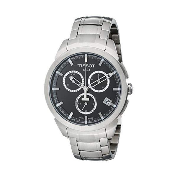 """ティソ 腕時計 TISSOT T0694174406100 ウォッチ メンズ 男性用 Tissot Men""""s T0694174406100 Quartz Titanium Grey Dial Chronograph Watch"""
