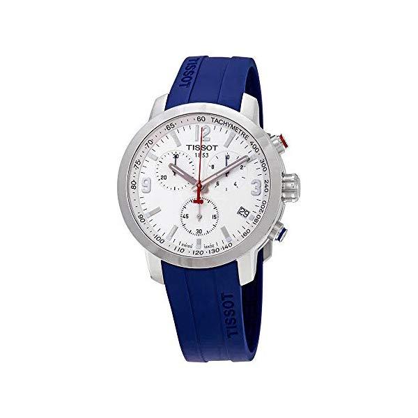 ティソ 腕時計 TISSOT T1014511605100 ウォッチ メンズ 男性用 Tissot PRC 200 Chronograph Quartz White Dial Men's Watch T055.417.17.017.03
