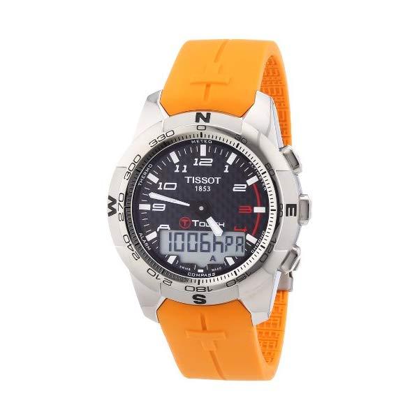 ティソ 腕時計 TISSOT T0474204720701 ウォッチ メンズ 男性用 Tissot Men's T0474204720701 T-Touch II Black Digital Multi Function Watch