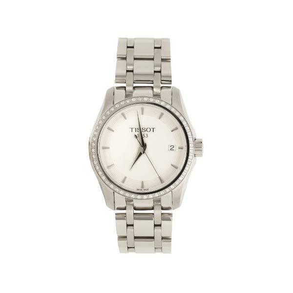 ティソ 腕時計 TISSOT T035.210.61.011.00 ウォッチ レディース 女性用 Tissot T035.210.61.011.00 Courtier White Dial Diamonds Set Bezel Ladies