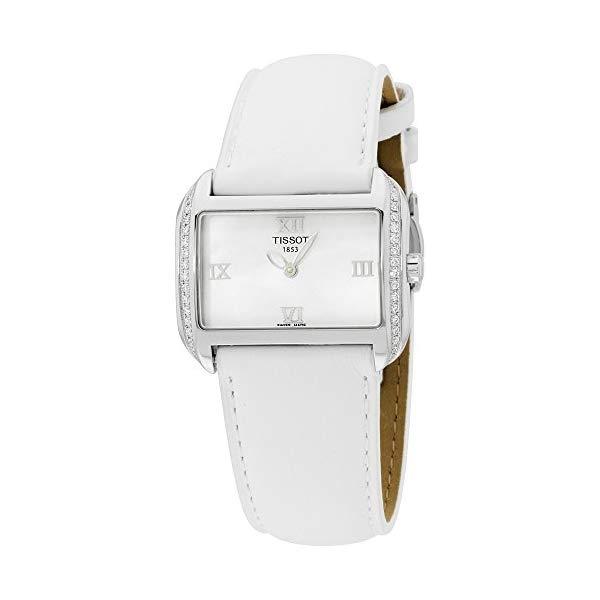 ティソ 腕時計 TISSOT T023.309.16.113.01 ウォッチ レディース 女性用 Tissot Women's T023.309.16.113.01 T-Wave Mother-Of-Pearl Dial Leather Strap Watch