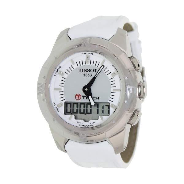 ティソ 腕時計 TISSOT T0472204608600 ウォッチ レディース 女性用 Tissot T-Touch II Multi-Function Silver Dial Titanium Ladies Watch T047.220.46.086.00