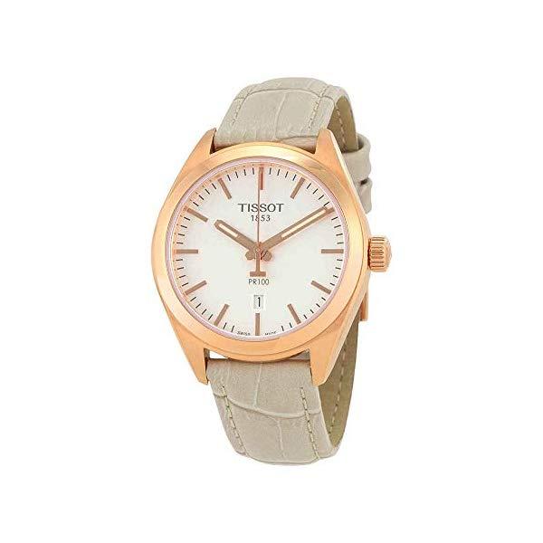 ティソ 腕時計 TISSOT T1012103603100 ウォッチ レディース 女性用 Tissot PR 100 White Dial SS Leather Quartz Ladies Watch T1012103603100