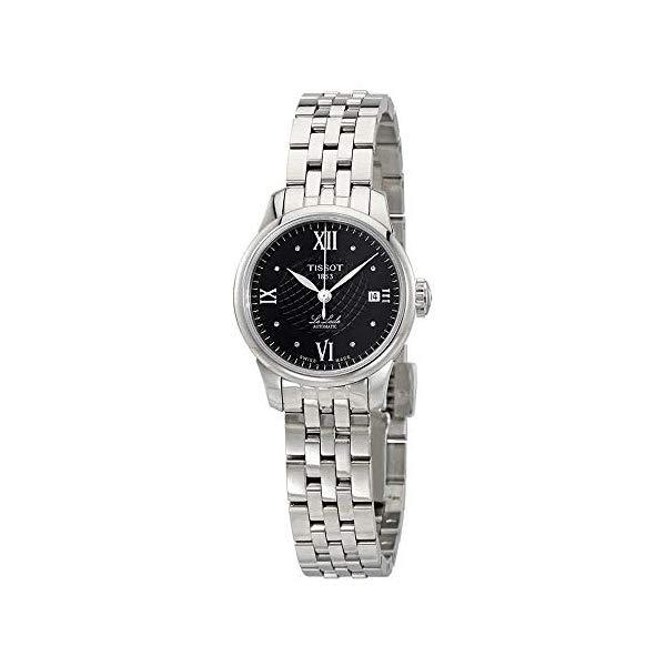 ティソ 腕時計 TISSOT T41118356 ウォッチ レディース 女性用 Tissot Le Locle Black Diamond Dial Automatic Ladies Watch T41.1.183.56
