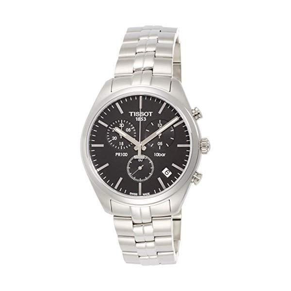 ティソ 腕時計 TISSOT T1014171105100 ウォッチ メンズ 男性用 Tissot T1014171105100 Pr100 Mens Watch - Black Dial44; Chronograph