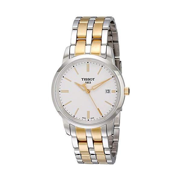 ティソ 腕時計 TISSOT T0334102201101 ウォッチ メンズ 男性用 Tissot Men's T0334102201101 Classic Dream Analog Display Quartz Two Tone Watch
