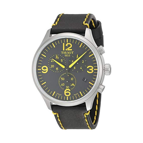 ティソ 腕時計 TISSOT T1166171605701 ウォッチ Tissot Chrono XL Tour de France 2018 Black Yellow Leather Watch T1166171605701