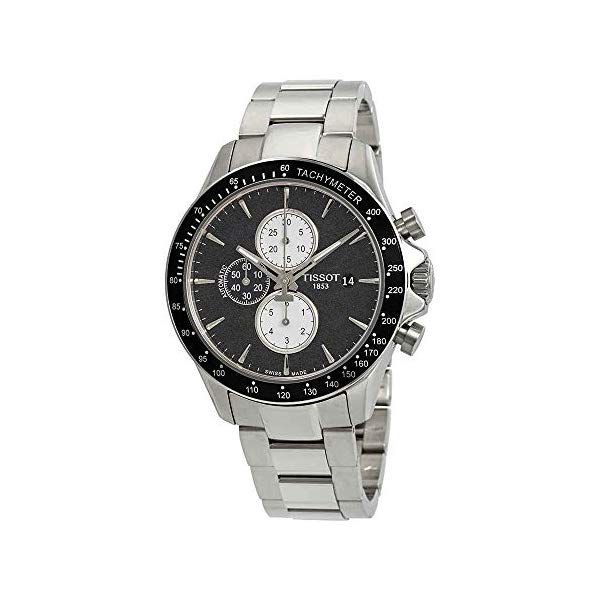 ティソ 腕時計 TISSOT T1064271105100 ウォッチ メンズ 男性用 Tissot V8 Black Dial Mens Chronograph Watch T106.427.11.051.00