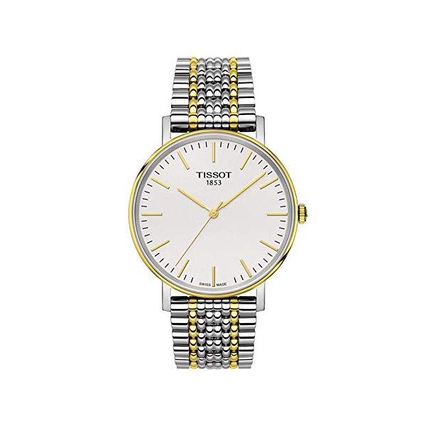 ティソ 腕時計 TISSOT T1094102203100 ウォッチ メンズ 男性用 Tissot T-Classic White Dial Two Tone Stainless Steel Men's Watch T1094102203100