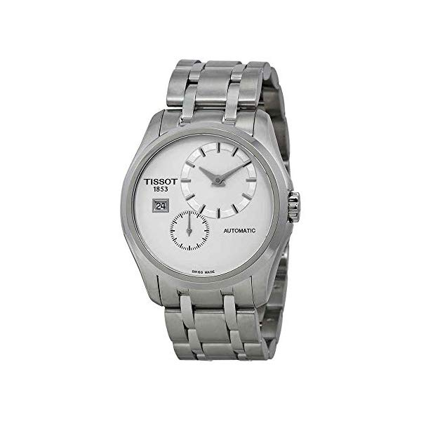 ティソ 腕時計 TISSOT T0354281103100 ウォッチ メンズ 男性用 Tissot Couturier White Dial Stainless Steel Automatic Men's T0354281103100