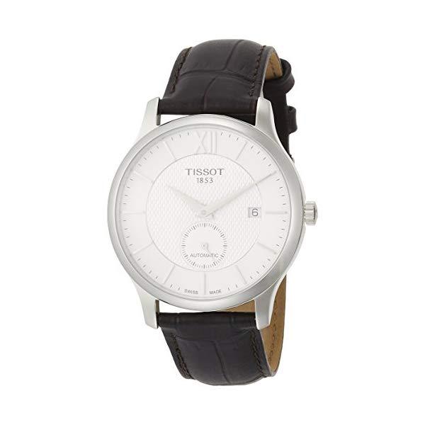 ティソ 腕時計 TISSOT T0634281603800 ウォッチ メンズ 男性用 Tissot T-Classic Tradition Automatic Mens Brown Leather Watch T063.428.16.038.00
