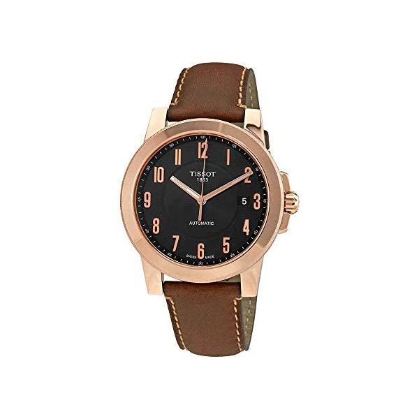 ティソ 腕時計 TISSOT T0984073605201 ウォッチ メンズ 男性用 Tissot Gentleman Black Dial Automatic Mens Leather Watch T0984073605201