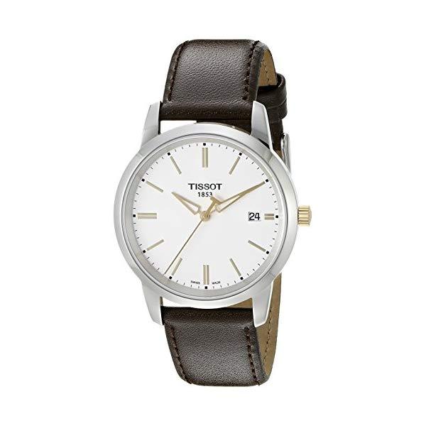 ティソ 腕時計 TISSOT T0334102601101 ウォッチ メンズ 男性用 Tissot Men's T0334102601101 T-Classic Stainless Steel Watch With Brown Leather Band
