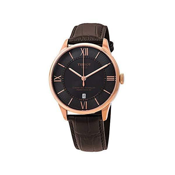 ティソ 腕時計 TISSOT T099.407.36.448.00 ウォッチ Tissot Chemin des Tourelles Powermatic 80 Rose Gold Brown Leather Watch 42mm T099.407.36.448.00