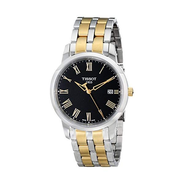 ティソ 腕時計 TISSOT T0334102205301 ウォッチ メンズ 男性用 Tissot Men's T0334102205301 Classic Dream Analog Display Swiss Quartz Two Tone Watch