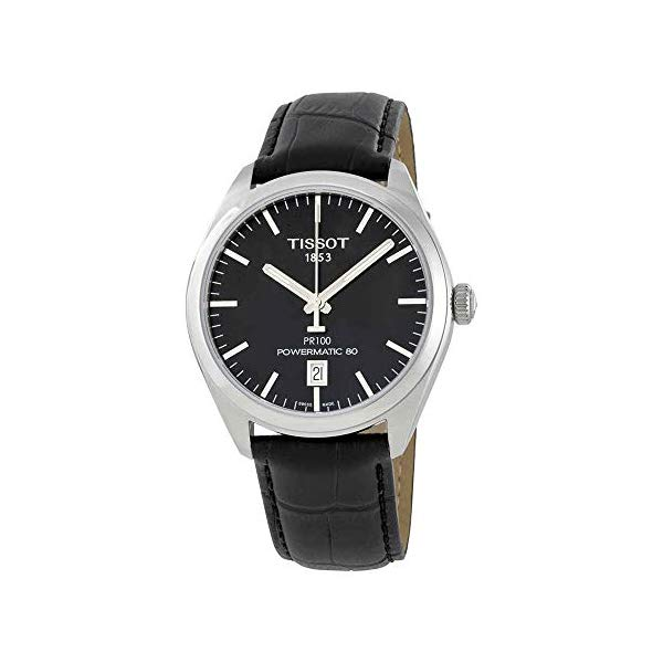 ティソ 腕時計 TISSOT T1014071605100 ウォッチ メンズ 男性用 Tissot PR 100 Automatic Black Dial Mens Watch T101.407.16.051.00