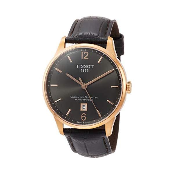 ティソ 腕時計 TISSOT T0994073644700 ウォッチ Tissot Chemin des Tourelles Powermatic 80 Rose Gold Brown Leather 42mm T099.407.36.447.00