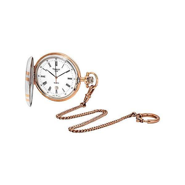ティソ 懐中時計 TISSOT T862.410.29.013.00 メンズ 男性用 Tissot T-Pocket White Dial Men's Watch T862.410.29.013.00