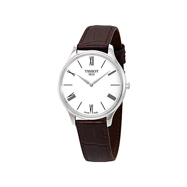 ティソ 腕時計 TISSOT T0634091601800 ウォッチ メンズ 男性用 Tissot Men's Tradition 5.5 Brown Leather Strap Watch T0634091601800