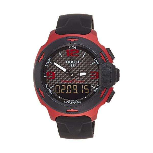 ティソ 腕時計 TISSOT T0814209720700 ウォッチ Tレース メンズ 男性用 Tissot T-Race Touch Aluminium Black Dial Black Silicon Mens Sports Watch T0814209720700