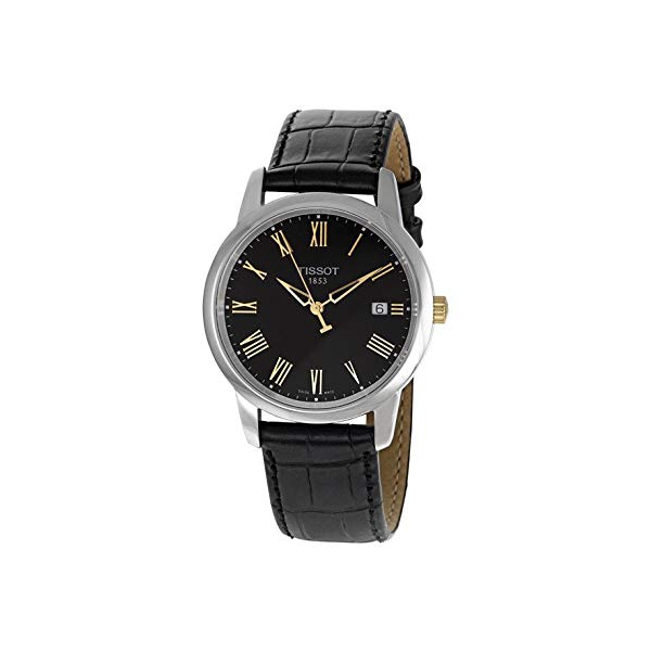 ティソ 腕時計 TISSOT ウォッチ メンズ 男性用 Tissot Men's Classic Black Leather Black Dial