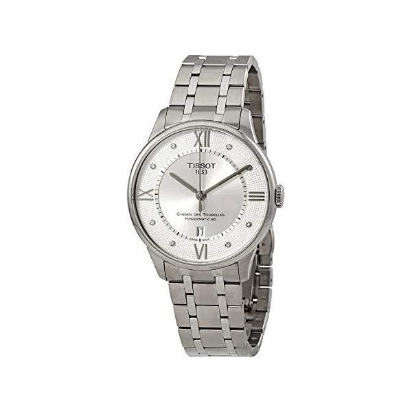 ティソ 腕時計 TISSOT T099.407.11.033.00 ウォッチ メンズ 男性用 Tissot Chemin des Tourelles Silver Diamond Dial Automatic Men's Watch T099.407.11.033.00