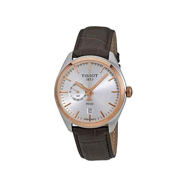 ティソ 腕時計 TISSOT T101.452.26.031.00 ウォッチ メンズ 男性用 Tissot T101.452.26.031.00 Men's PR 100 Gent Dualtime Watch Brown 39mm Stainless Steel