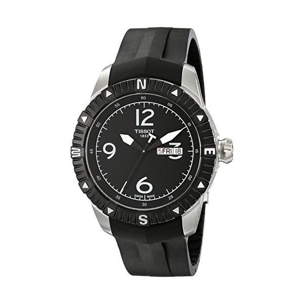 ティソ 腕時計 TISSOT T062.430.17.057.00 ウォッチ メンズ 男性用 Tissot Men's 'T Navigator' Black Dial Black Rubber Strap DateDay Automatic Watch T062.430.17.057.00