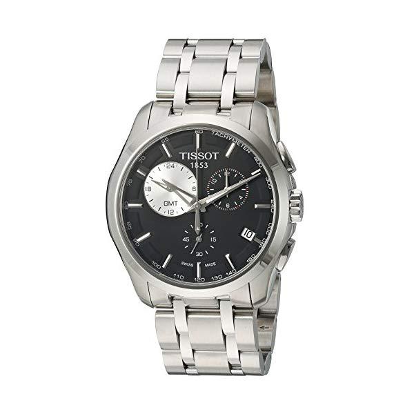ティソ 腕時計 TISSOT T035.439.11.051.00 ウォッチ メンズ 男性用 Tissot Men's T035.439.11.051.00 Black Dial Couturier Watch