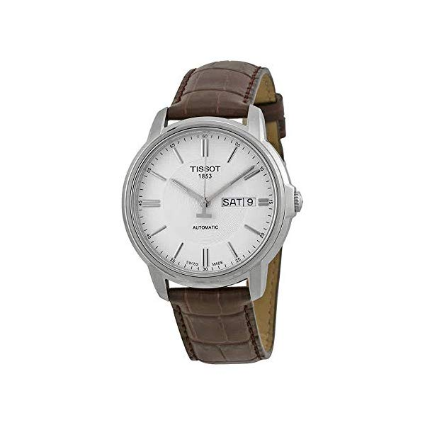 ティソ 腕時計 TISSOT T0654301603100 ウォッチ メンズ 男性用 Tissot Men's T0654301603100 Automatic III Swiss Automatic Watch with Brown Band