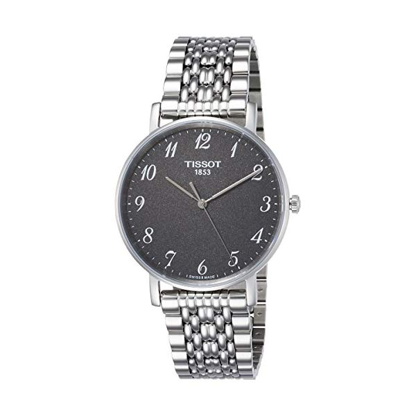 ティソ 腕時計 TISSOT T1094101107200 ウォッチ メンズ 男性用 Tissot Men's Quartz Watch with Stainless-Steel Strap, Grey, 18 (Model: T1094101107200)