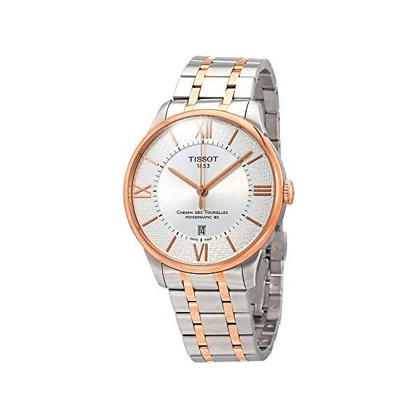 ティソ 腕時計 TISSOT T0994072203801 ウォッチ メンズ 男性用 Tissot Chemin des Tourelles Silver Dial Automatic Men's Two Tone Watch T099.407.22.038.01